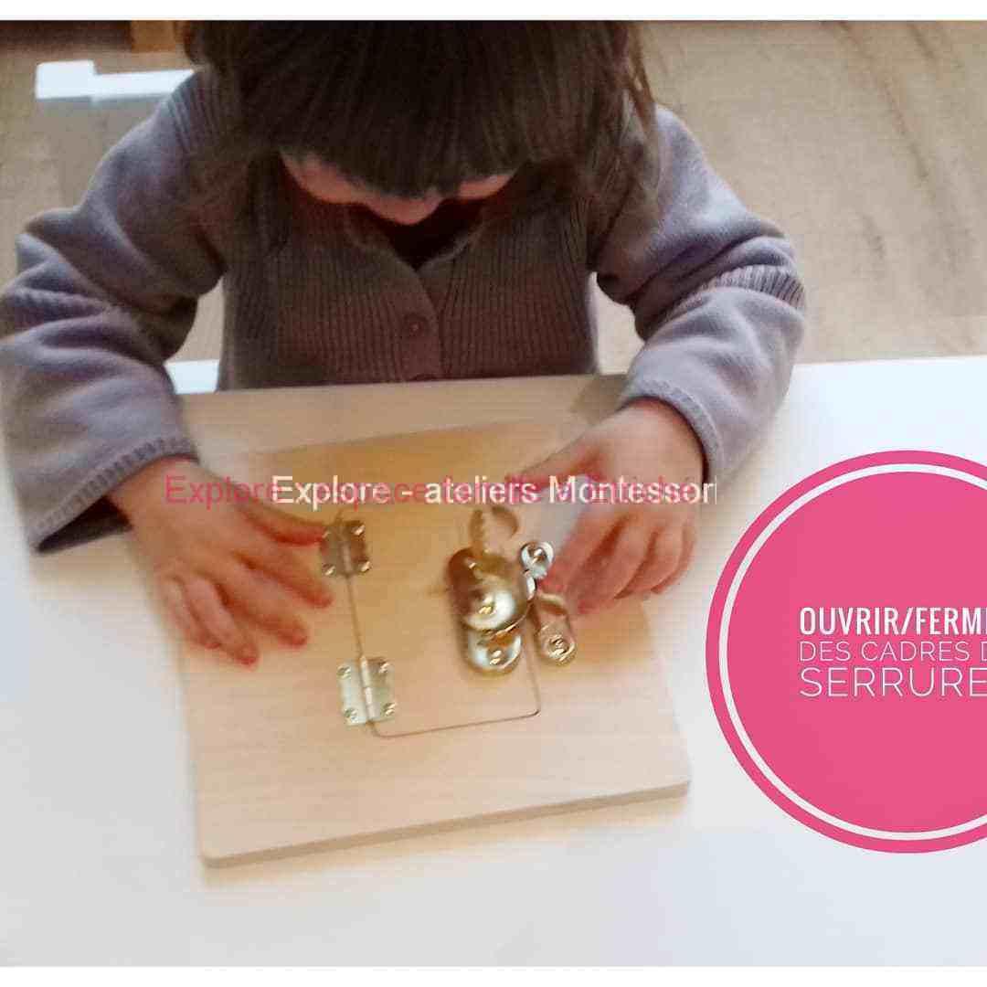 Atelier Montessori : pôle de vie pratique
