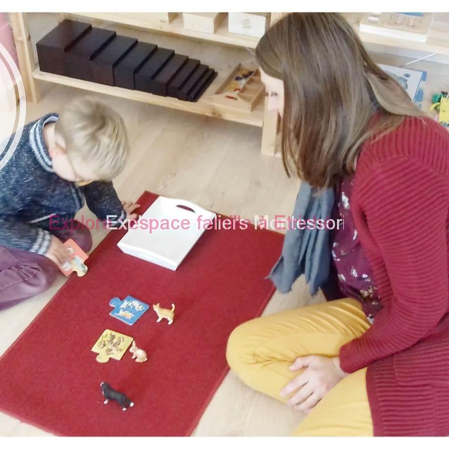 Atelier Montessori accompagné ou non d'un parent à Etriché