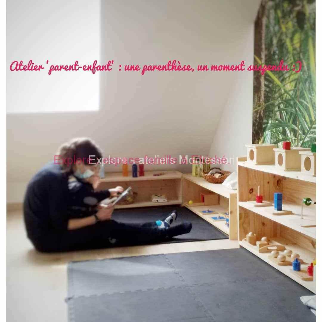 Partage et moment de douceur à l'atelier Montessori à Etriché