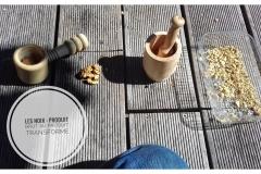 Saison automnale / processus de transformation de la noix