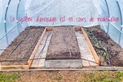 Installation des bacs et apports de compost
