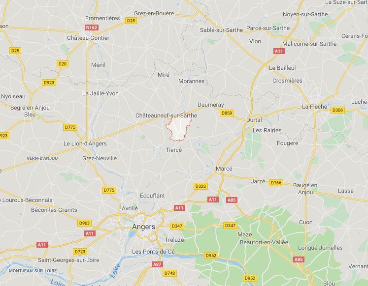 Commune Etriché, 49330.